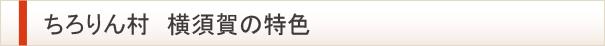 ちろりん村 横須賀の特色
